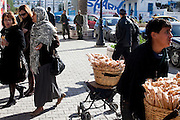 Sidi Bousaid, Tunisia. January 29th 2011.A street scene in front of the commercial center......