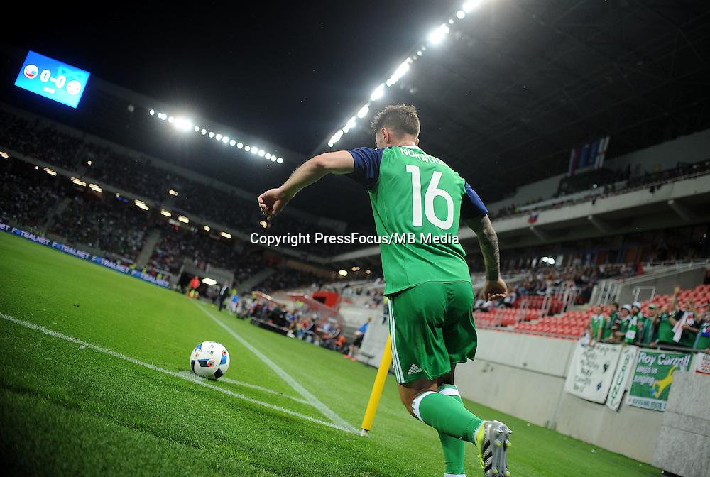 2016.06.04 Trnava, Slowacja<br /> Pilka Nozna Reprezentacja Mecz towarzyski<br /> Slowacja - Irlandia Polnocna <br /> N/z Oliver Norwood<br /> Foto Rafal Rusek / PressFocus<br /> <br /> 2016.06.04 Trnava, Slovakia<br /> Football Friendly Game<br /> Slovakia - Northern Ireland<br /> Oliver Norwood<br /> Credit: Rafal Rusek / PressFocus