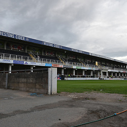 TELFORD COPYRIGHT MIKE SHERIDAN A general view of Edgar Street during the National League North fixture between Hereford FC and AFC Telford United at Edgar Street, Hereford on Tuesday, August 13, 2019<br /> <br /> Picture credit: Mike Sheridan<br /> <br /> MS201920-009
