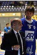 DESCRIZIONE : Torino Lega A 2015-16 Manital Torino - Betaland Capo d'Orlando<br /> GIOCATORE : Enzo Sindoni Gianluca Basile<br /> CATEGORIA : Fair Play <br /> SQUADRA : Betaland Capo d'Orlando<br /> EVENTO : Campionato Lega A 2015-2016<br /> GARA : Manital Torino - Betaland Capo d'Orlando<br /> DATA : 22/11/2015<br /> SPORT : Pallacanestro<br /> AUTORE : Agenzia Ciamillo-Castoria/M.Matta<br /> Galleria : Lega Basket A 2015-16<br /> Fotonotizia: Torino Lega A 2015-16 Manital Torino - Betaland Capo d'Orlando