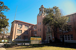 28 January 2015. New Orleans, Louisiana.<br /> Martin Behrman Charter school in Algiers Point, New Orleans. Once the Martin Behrman High School where Gayle Benson went to school in the late 1950's/early 60's. Gayle Benson is the 3rd and current wife of Louisiana billionaire Tom Benson, owner of the NFL football team The New Orleans Saints and NBA basketball team The New Orleans Pelicans. <br /> Photo; Charlie Varley/varleypix.com