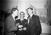 19/2/1966<br /> 2/19/1966<br /> 19 February 1966<br /> <br /> Mr. Peter Murphy Public Relations Officer Macra na Feirme chatting with Mr J.J. Boyle Director Shell and Albatros and Mr Hugh Ryan President of Macra na Feirme