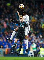 Real Sociedad's forward Juanmi Jimenez Lopez and Real Madrid's midfielder Mateo Kovacic during the match of La Liga between Real Madrid and   Real Sociedad at Santiago Bernabeu Stadium in Madrid, Spain. January 29th 2017. (ALTERPHOTOS/Rodrigo Jimenez)