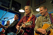 The Flatlanders perform at Waterloo Records, Austin Texas, March 31, 2009.  The Flatlanders are Joe Ely, Jimmie Dale Gilmore and Butch Hancock.