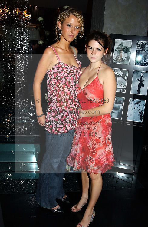Left to right, MISS KATE MELHUISH and MISS MARTHA FREUD at Tatler Magazine's Summer Party held at the Baglioni Hotel, 60 Hyde Park Gate, London SW7 on 1st July 2004.