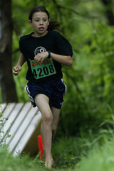 "(Kingston, Ontario---16/05/09) ""Branna Macdougall finshed 16 in the women's 5-6 km Sport Race at the 2009 Salomon 5 Peaks Trail Running series Race held in Kingston, Ontario as part of the Eastern Ontario/Quebec division.""  Copyright photograph Sean Burges / Mundo Sport Images, 2009. www.mundosportimages.com / www.msievents.com."