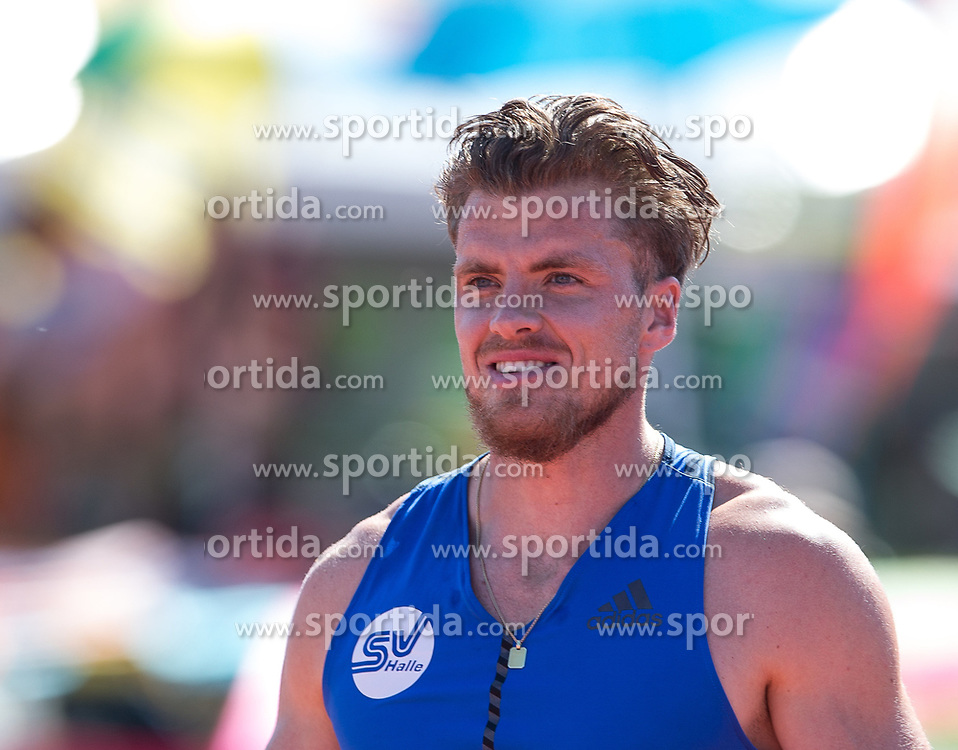 28.05.2017, Moeslestadion, Goetzis, AUT, 43. Hypo Meeting Goetzis, im Bild Rico Freimuth (GER) beim 110m Hürdenlauf // Rico Freimuth of Germany during the 43rd Hypo Athletics Meeting at the Moeslestadion in Goetzis, Austria on 2017/05/28. EXPA Pictures © 2017, PhotoCredit: EXPA/ Peter Rinderer
