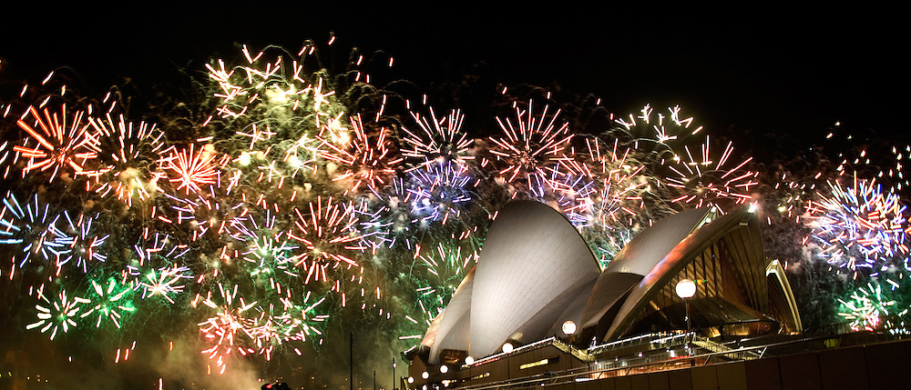Fireworks at the Sydney Opera House  Saturday, September 8, 2007, in Sydney, Australia...Photo by Khue Bui