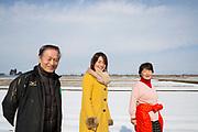 Risbonden Hisataka Suto tillsammans med sin fru Shizuyo Suto och sin dotter Aki Bond.<br /> <br /> Fotograf: Christina Sjögren<br /> Copyright 2018, All Rights Reserved