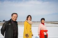 Risbonden Hisataka Suto tillsammans med sin fru Shizuyo Suto och sin dotter Aki Bond.<br /> <br /> Fotograf: Christina Sj&ouml;gren<br /> Copyright 2018, All Rights Reserved