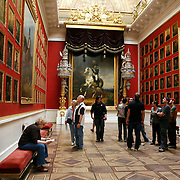 Portrait of Tsar Alexander I and other military officers in the 1812 War Gallery. The Winter Palace was the main residence of the Russian Tsars located on the banks of the Neva River, in St. Petersburg. It is also known worldwide as the State  Hermitage Museum. <br /> Photography by Jose More