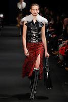 Sophia Ahrens (DNA) walks the runway wearing Altuzarra Fall 2015 during Mercedes-Benz Fashion Week in New York on February 14, 2015