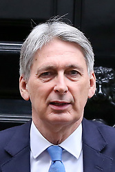 © Licensed to London News Pictures. 09/01/2019. London, UK. Philip Hammond - Chancellor departs from Number 11 Downing Street to attend Prime Minister's Questions (PMQs) in the House of Commons. Photo credit: Dinendra Haria/LNP