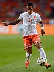 05-06-2015 NED: Oefeninterland Nederland - USA, Amsterdam<br /> Oranje verliest oefeninterland tegen Verenigde Staten met 4-3 / Memphis Depay #11