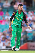 Melbourne Stars player Sandeep Lamichhane at the Big Bash League cricket match between Sydney Sixers and Melbourne Stars at The Sydney Cricket Ground in Sydney, Australia