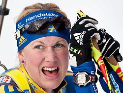 "19.01.2012, Südtirol Arena, Antholz, ITA, E.ON IBU Weltcup, 6. Biathlon, Antholz, Sprint Damen, im Bild Helena Ekholm (SWE) // Helena Ekholm (SWE) during Sprint Women E.ON IBU World Cup 6th, ""South Tyrol Arena"", Antholz-Anterselva, Italy on 2012/01/19, EXPA Pictures © 2012, PhotoCredit: EXPA/ Juergen Feichter"