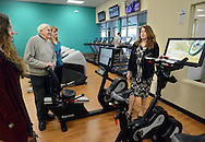 Valerie Tanner (right), Branch Executive of the Warminster YMCA gives a tour of the new facility during the grand opening of the Warminster YMCA Tuesday, January 31, 2017 in Warminster. Pennsylvania. (Photo by William Thomas Cain)