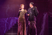 2018, Oktober 05. Theater aan de Schie, Schiedam. Perspresentatie musical Evita. Op de foto: Brigitte Heitzer en Paul Donkers