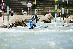 Alja Kozorog during the Kayak Single (C1) Women race of Tacen Cup 2020 on May 24, 2020 in Tacen, Ljubljana, Slovenia. Photo By Grega Valancic / Sportida