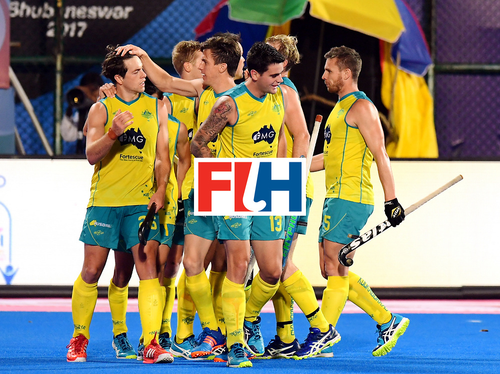 Odisha Men's Hockey World League Final Bhubaneswar 2017<br /> Match id:20<br /> Australia v Germany<br /> Foto: Dylan Wotherspoon (Aus) scored 1-0<br /> COPYRIGHT WORLDSPORTPICS FRANK UIJLENBROEK