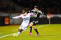 Gilles SUNU / Vincent LE GOFF  - 04.03.2015 - Evian Thonon / Lorient - Match en retard de la 26eme journee de Ligue 1 <br />Photo : Jean Paul Thomas / Icon Sport