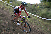Jessica Cutler competes in the Elite Women's race at the Ellison Park Cyclocross Festival in Rochester on Saturday, October 11, 2014.