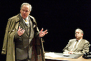 David Shough (left) and Saul Caplan during a dress rehearsal of A Case of Libel at the Dayton Theatre Guild in Dayton, Wednesday, May 19, 2010.