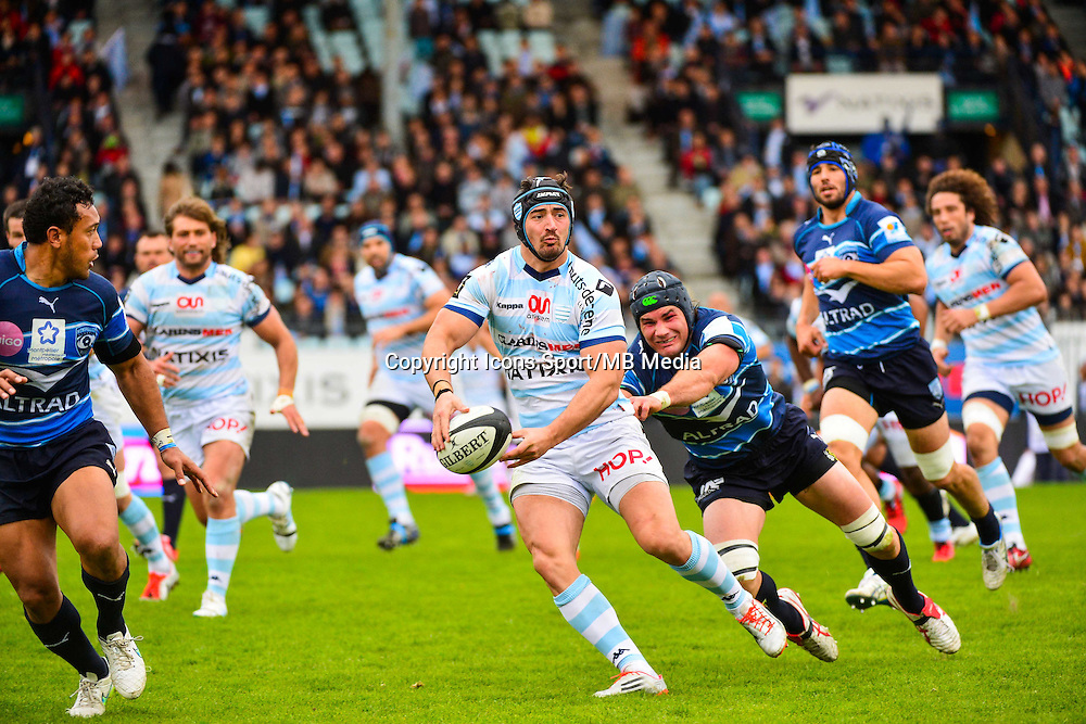 Alexandre DUMOULIN / Ben MOWEN  - 11.04.2015 - Racing Metro / Montpellier  - 22eme journee de Top 14 <br />