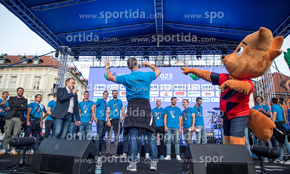Alberto Giuliani during the Day for the medals: Reception of Slovenian sport heroes on 30.9.2019 on Kongresni square, Ljubljana, Slovenia. Photo by Urban Meglič / Sportida