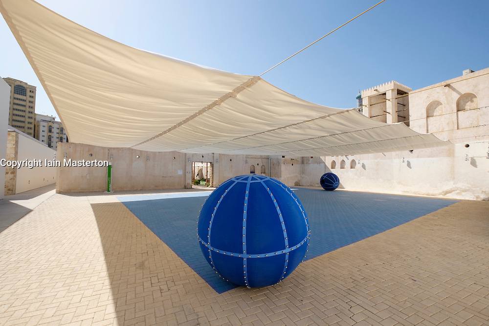"Art installation by Eduardo Navarro called ""XYZ""  at 2015 Sharjah Biennial art festival in Sharjah united Arab Emirates"