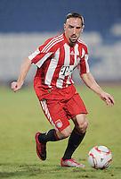 Fussball 1. Bundesliga  Saison   2010/2011   08.01.2011 FC Bayern Muenchen -  Al Wakrah Sport Club Franck Ribery (FC Bayern Muenchen) am Ball