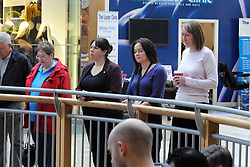 © Licensed to London News Pictures. 11/11/2013<br /> Shoppers and staff at Bluewater near Greenhithe in Kent stop and observe a Two minute silence today (11.11.2013) for Remembrance Day.  <br /> Photo credit :Grant Falvey/LNP