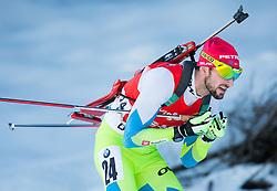 FAK Jakov (SLO) competes during Men 12,5 km Pursuit at day 3 of IBU Biathlon World Cup 2014/2015 Pokljuka, on December 20, 2014 in Rudno polje, Pokljuka, Slovenia. Photo by Vid Ponikvar / Sportida