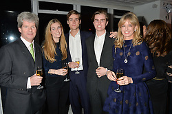 Left to right, GUY SANGSTER, ELLA MAY SANGSTER, MYLO SANGSTER, HUBIE SANGSTER and FIONA SANGSTER at the London premier of Being AP held at Altitude 360, Millbank Tower, 30 Millbank, London on 23rd November 2015.