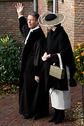 Hare Koninklijke Hoogheid Prinses Alexia, de jongste dochter van Zijne Koninklijke Hoogheid de Prins van Oranje en Hare Koninklijke Hoogheid Prinses M&aacute;xima, is zaterdag 19 november 2005 gedoopt in de Dorpskerk in Wassenaar. <br /> <br /> Baptism of Princess Alexia, the youngest daughter of Prince Willem-Alexander and Princess M&aacute;xima. Princess Alexia (born June 26, 2005) has been baptized in the church in Wassenaar. The ceremony was attended by The Dutch Royal Family and the parents of Princess M&aacute;xima.  <br /> <br /> Op de foto / On the photo:<br /> <br /> <br /> Ds J.A.D. van der Boon, predikant van de Dorpskerk Wassenaar .