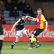 Dundee&rsquo;s Cammy Kerr battles with Partick Thistle's Chris Erskine - Dundee v Partick Thistle in the Ladbrokes Scottish Premiership at Dens Park, Dundee.Photo: David Young<br /> <br />  - &copy; David Young - www.davidyoungphoto.co.uk - email: davidyoungphoto@gmail.com