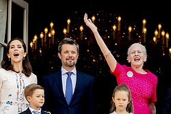 26-5-2018 COPENHAGEN - birthday party for prince Frederick 50 birthday at the palace Queen Margrethe,, Crownprince Frederik, Crownprincess Mary, Prince Christian, Princess Josephine of Denmark, Princess Isabella of Denmark, Prince Vincent of Denmark ROBIN UTRECHT