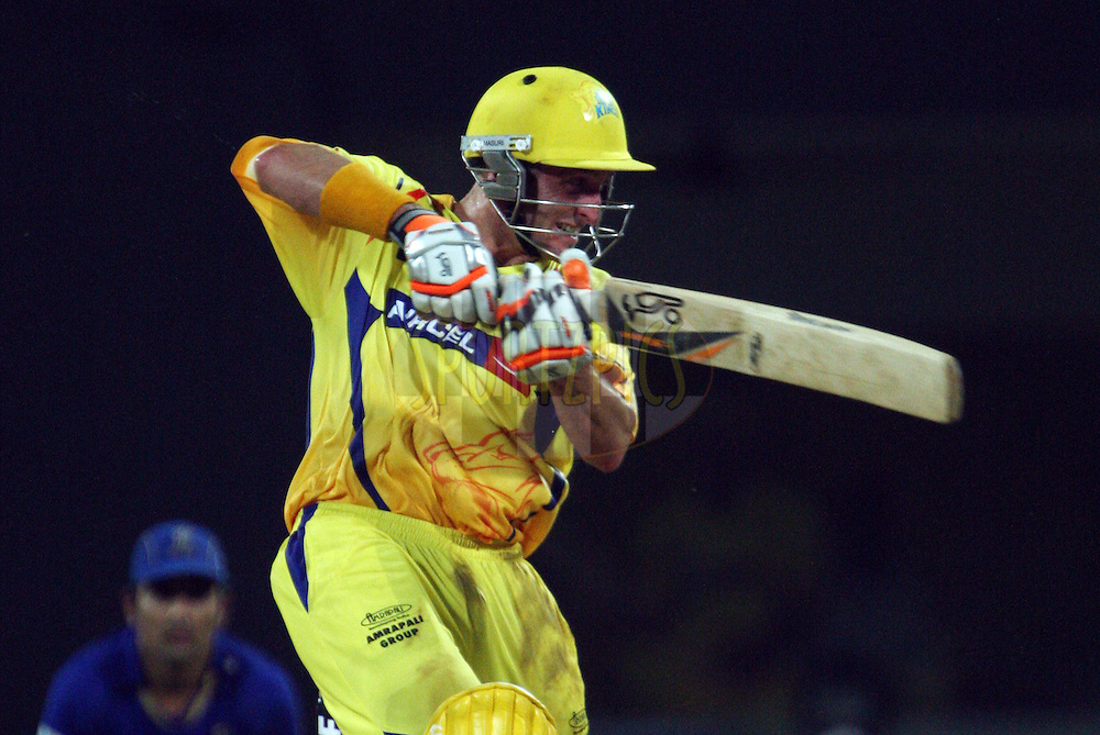 Michael Hussey during his half century in match 43 of the Indian Premier League ( IPL ) Season 4 between the Chennai Superkings and c held at the MA Chidambaram Stadium in Chennai, Tamil Nadu, India on the 4th May 2011..Photo by Jacques Rossouw/BCCI/SPORTZPICS .