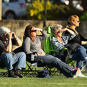 Parents watching the action during the Norwalk Little League baseball competition at Broad River Fields,  Norwalk, Connecticut. USA. Photo Tim Clayton