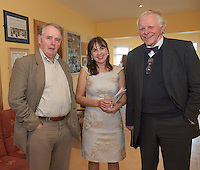 Coleman Collins, Trish Murphy SCCUL, and Joseph Geraghty Loughrea at the Launch of the SCCUL Sanctuary at Kilcuan, Clarinbridge .<br /> Photo:Andrew Downes