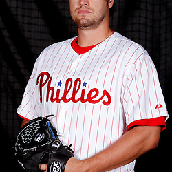 February 22, 2011; Clearwater, FL, USA; Philadelphia Phillies pitcher Brian Schlitter (43) poses during photo day at Bright House Networks Field. Mandatory Credit: Derick E. Hingle