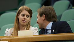 LONDON, ENGLAND - Tuesday, June 28, 2011: Beatrice Elizabeth Mary Windsor, Princess Beatrice of York, with her boyfriend Dave Clarke, watch from the Royal Box on Centre Court during the Ladies' Singles Quarter-Final on day eight of the Wimbledon Lawn Tennis Championships at the All England Lawn Tennis and Croquet Club. (Pic by David Rawcliffe/Propaganda)