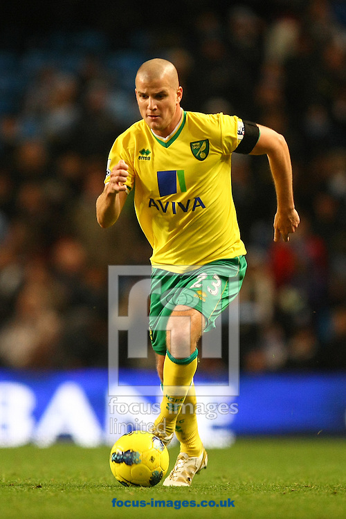 Picture by Paul Chesterton/Focus Images Ltd.  07904 640267.03/12/11.Marc Tierney of Norwich in action during the Barclays Premier League match at the Etihad Stadium, Manchester.