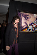 SERGIO PIZZORNO OF KASABIAN  , Ideas And Idols - private view of work by Paul Karslake.<br />