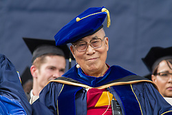 "June 17, 2017 - La Jolla, US - Tenzin Gyatso, His Holiness the 14th Dalai Lama, is keynote speaker at the University of California San Diego All Campus Commencement.. Ã'You have the opportunity to create a better world, a happier world,Ã"" said His Holiness the 14th Dalai Lama, who delivered the keynote address to 25,000 University of California San Diego graduates and their families today during the universityÃ•s All Campus Commencement..A record number of 9,000 students graduate from UC San Diego this weekend. (Credit Image: © Daren Fentiman via ZUMA Wire)"