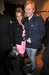 COUNTESS MAYA VON SCHONBURG and DAVID COLLINS at the launch party of 'Songs For Sorrow' hosted by Alber Elbaz and Mika held at Lanvin, 32 Savile Row, London on 11th November 2009.