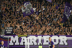 Fans of Maribor during football match between NK Maribor and Hapoel Beer-Sheva in Second leg of UEFA Champions League playoff round, on August 22 2017 in Ljudski vrt, Maribor, Slovenia. Photo by Morgan Kristan / Sportida