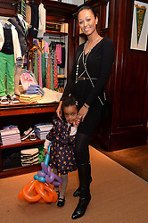 RACHEL RITFELD and her daughter ROSALIA RITFELD at the 4th birthday party for Amadeus Becker, son of Boris & Lilly Becker held at Ralph Lauren, 143 New Bond Street, London on 9th February 2014.