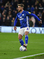 Football - 2019 / 2020 Sky Bet (EFL) Championship - Cardiff City vs. West Bromwich Albion<br /> <br /> Joe Bennett of Cardiff on the ball, at Cardiff City Stadium.<br /> <br /> COLORSPORT/WINSTON BYNORTH