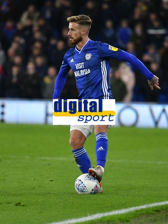 Football - 2019 / 2020 Sky Bet (EFL) Championship - Cardiff City vs. West Bromwich Albion<br /> <br /> Joe Bennett of Cardiff on the ball, at Cardiff City Stadium.<br /> <br /> COLORSPORT/WINSTON BYNORTH